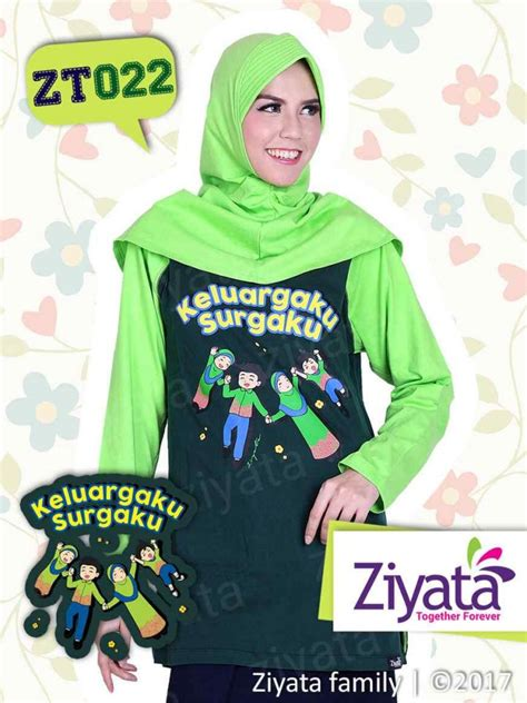 Kaos Keluarga Ayah kaos keluarga ayah ibu anak warna hijau ziyata family zt022