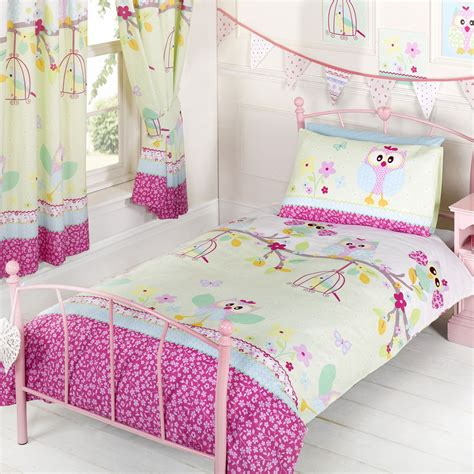girls bed sets owls twit twoo single duvet cover set new girls bedding