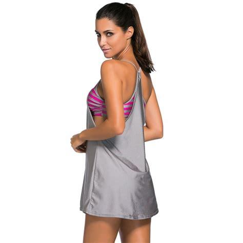 maillot de bain femme 1 bandeau maillot de bain deux pi 232 ces femme bandeau et robe et grise