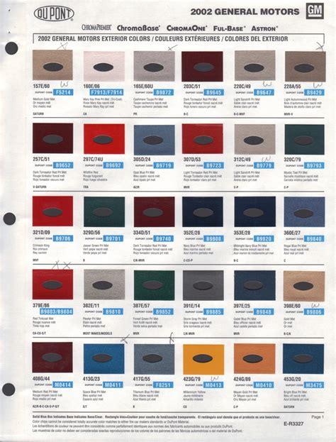 gm paint codes color images