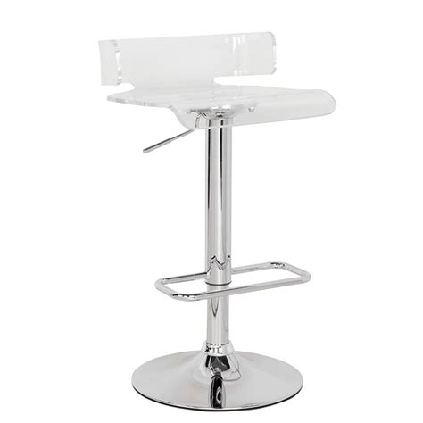 Clear Adjustable Bar Stools by Rania Modern Swivel Adjustable Seat Height Bar Stool Clear