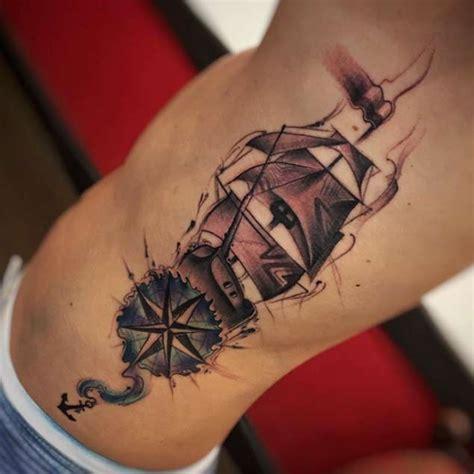 compass tattoo rib cage 42 friggin amazing compass tattoos tattooblend