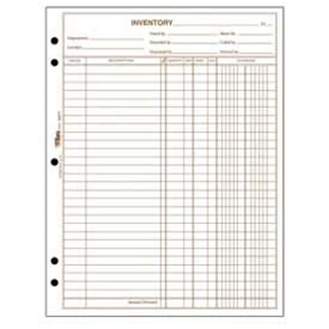 Plumbing Inventory List by Paper Stationery Forms Tops 174 Inventory Sheets 1