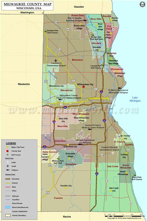 milwaukee wisconsin map milwaukee county map wisconsin