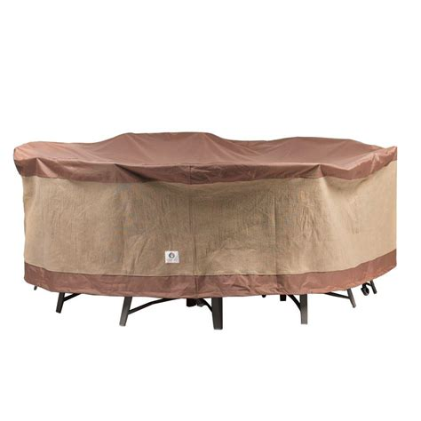 Duck Covers Ultimate 108 in. Round Patio Table and Chair