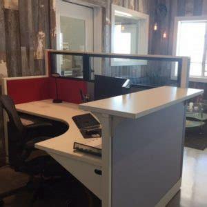 modern  shaped reception desk green clean designs
