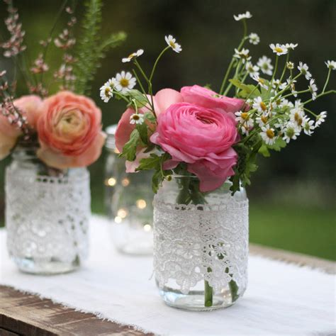 Jar Vases For Wedding by Lace Covered Jar Vase By The Wedding Of Dreams Notonthehighstreet