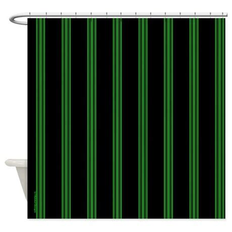 black and green curtains green and black pinstripe shower curtain by rainbowhot