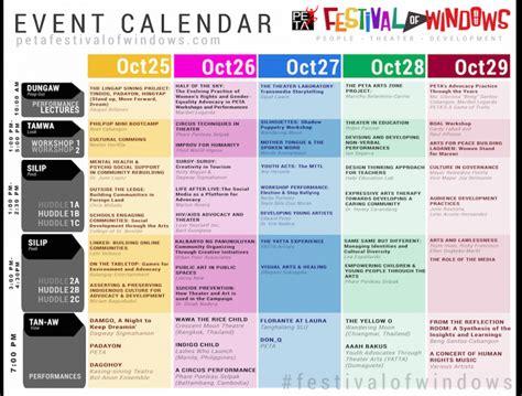 check event calendar petas festival windows