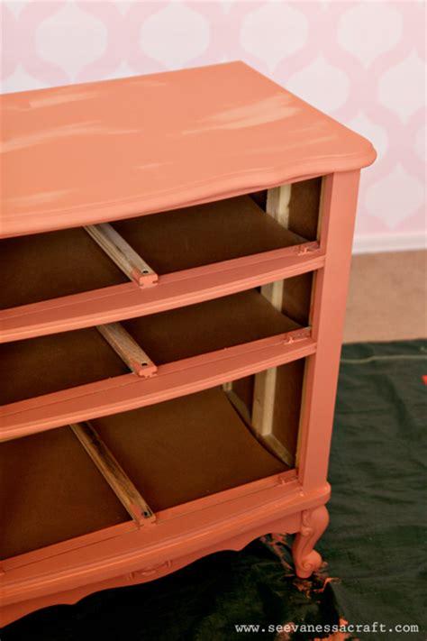 nursery annie sloan chalk paint coral dresser makeover