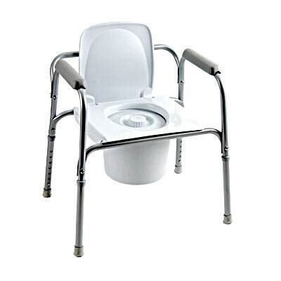 invacare commode chair steel steel  bar