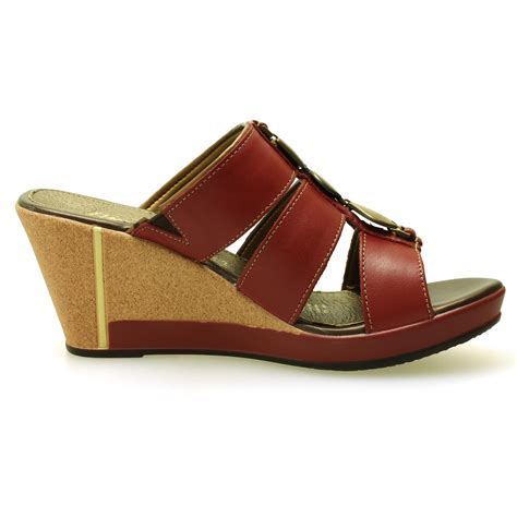 flexi wine leather strappy sandals comfortable