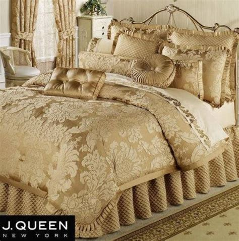 j queen bedding j queen new york contessa gold king queen comforter set