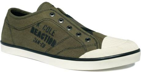 Coles Green Slip by Kenneth Cole Reaction Treepeat Slip On Sneakers In Green