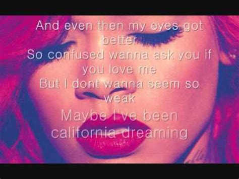 rihanna california king bed lyrics rihanna california king bed lyrics youtube