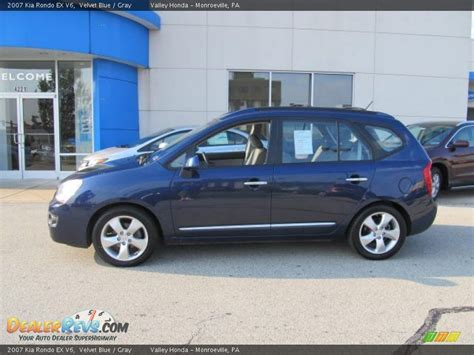 2007 kia rondo 2007 kia rondo ex v6 velvet blue gray photo 2