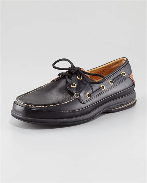 Sperry Topsider Gold Cup Sperry Top Sider Gold Cup Asv Two Eye Boat Shoe In Black