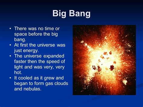 before time began the big and the emerging universe books big to earth s formation concept map ppt