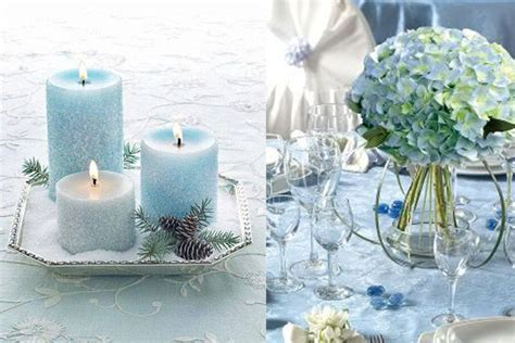 hot winter wedding color combos white silver ice blue