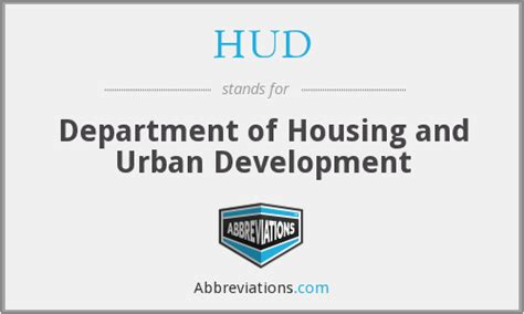department of housing and urban development hud department of housing and urban development