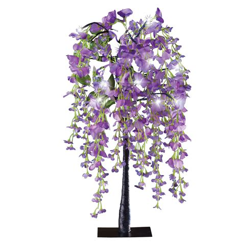 lighted tabletop tree lighted purple wisteria tabletop tree ebay
