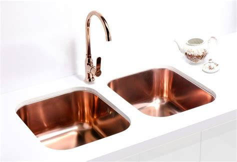 copper sink with stainless steel alveus monarch variant 40 copper undermount sink