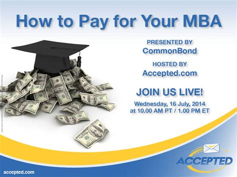 How To Fund An Mba by How To Pay For Your Mba The Webinar