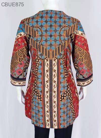 Atasan Tunik Kemeja Batik Jumbo Wanita Shiren atasan wanita tunik batik blarak 9002 blus lengan