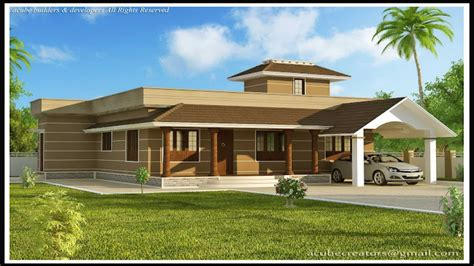 single story modern house designs in kerala modern house
