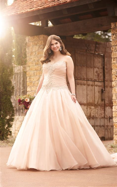 Wedding Dress Size by Wedding Gowns Plus Size Pink Princess Wedding Dress