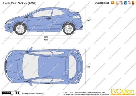 Free Blueprints by The Blueprints Com Vector Drawing Honda Civic 3 Door