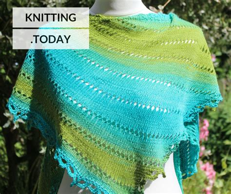 knitting today adjustable shawls exle patterns knitting today