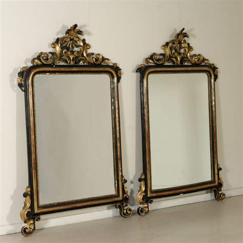 specchi e cornici coppia di specchiere specchi e cornici antiquariato