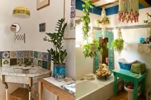 boho chic bathroom small spaces pinterest