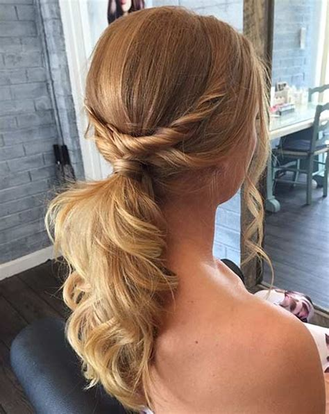 hi low curly hairdo 25 elegant ponytail hairstyles for special occasions