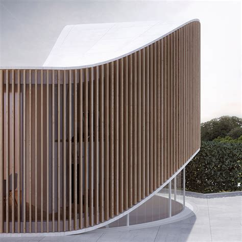 The Organic Bedroom penda crafts curved timber garden house for wood artist in