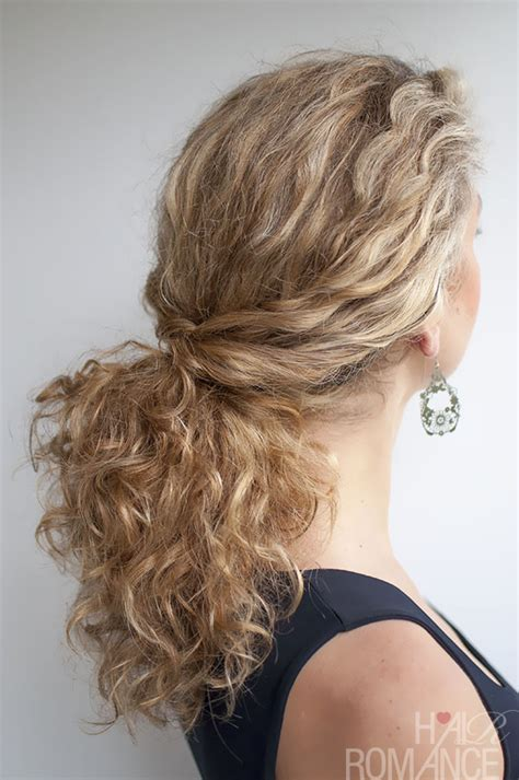 hairstyles for curly hair in a ponytail curly hairstyle tutorial the twist over ponytail hair