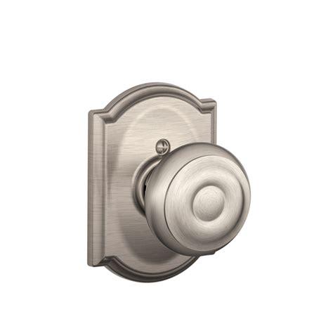 shop schlage georgian satin nickel passage door knob