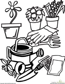 garden coloring worksheet 16 best images about gardening on