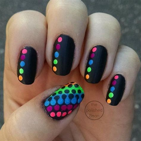 easy nail art designs on black base 55 truly inspiring easy dotted nail art designs for