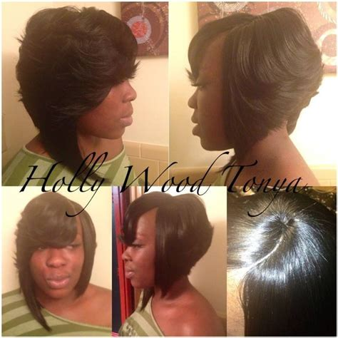 nice weaves in nairobi layered bob with invisible part hair pinterest