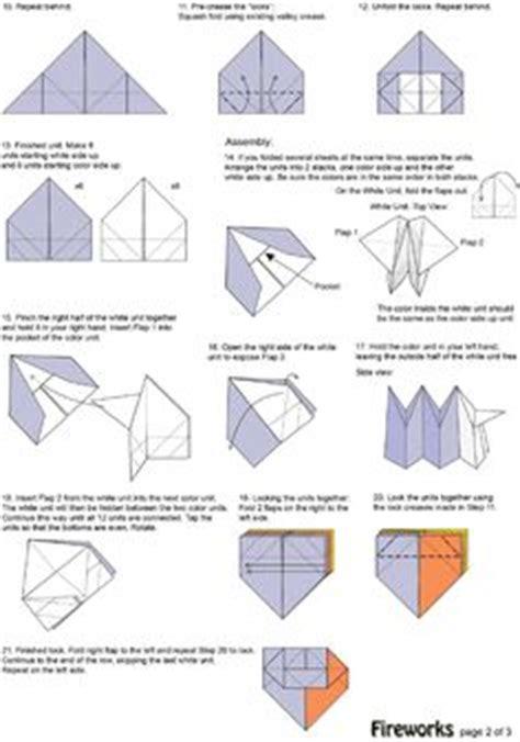 Origami Fireworks Diagram - http www spitenet origami pdf fireworks pdf