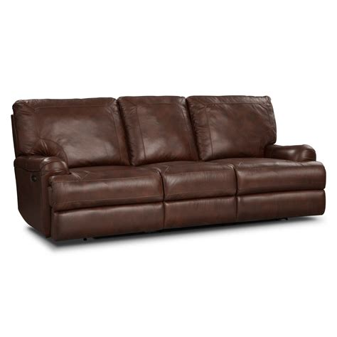 power sofa recliner kingsway leather power reclining sofa value city furniture