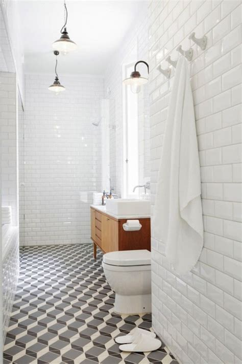 White Subway Tile Bathroom Ideas Beveled Subway Tile Design Ideas