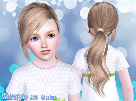 tsr kids hair skysims hair child 208 k ts3 cc pinterest