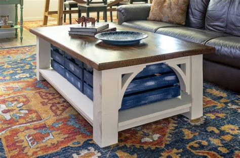 farmhouse style diy coffee table  storage diy candy