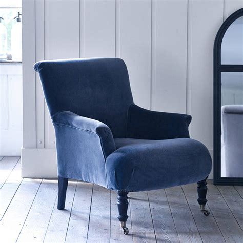 Velvet Armchair Uk Finley Velvet Armchair By Rowen Wren