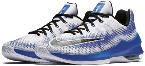 nike airmax basketball shoes lyst nike air max infuriate low basketball shoes in blue