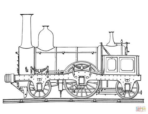 Coloring Pages Trains Steam | steam train coloring page free printable coloring pages