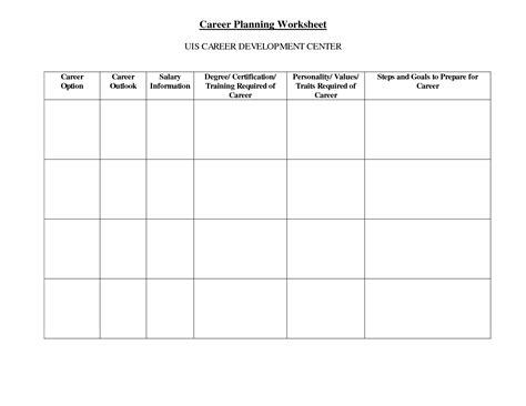 plan work sheet 17 best images of career plan worksheet high school
